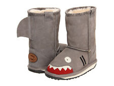 Kids EMU Australia Shark Boot K10589 Putty Grey Suede 100% Original Brand New