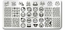 Emoji Emotion Smiley Nail Art Stamping Manicure Template Image Plate BPX-L001