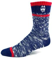 Connecticut Huskies NCAA Navy and Red Alpine Knit Crew Socks