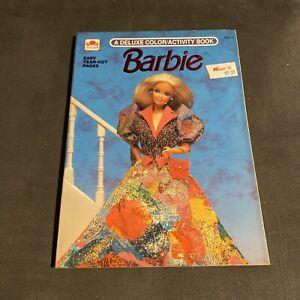 VINTAGE Barbie Doll Mattel Deluxe Coloring / Activity Book Golden - NEW NOS 1990