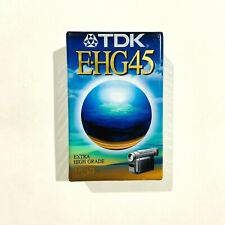 TDK E-HG45 VHS-C High Grade Blank Tape Brand New And Sealed