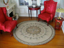 dollhouse doll house miniature FANCY ACCENT RUG CARPET ROUND #1