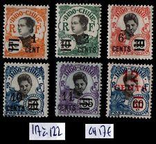 INDOCHINE : Série 117 à 122, Neufs * = Cote 17 € / Lot TIMBRES COLONIES