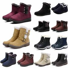 Womens Winter Warm Fur Ankle Snow Boots Lined Grip Sole Booties Comfy Shoes Size