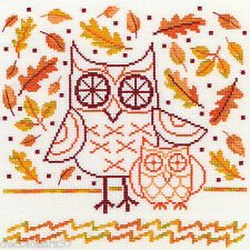 Bothy Threads  XDJ1  Autumn Owl  Kit  Broderie  Point de Croix  Compté