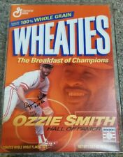 2002 Wheaties Ozzie Smith SIGNED Hall of Fame Commemorative Box