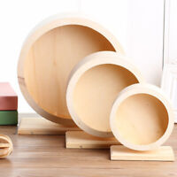 WO_ Wooden Mute Roller Hamster Running Exercise Mouse Hedgehog Sports Wheel Pet