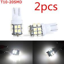 2X T10 W5W 194 168 501 20SMD White LED Car Inverted Side Wedge Light Bulbs 12V