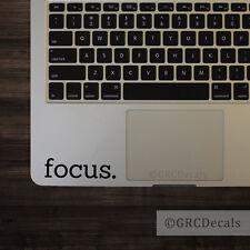 Focus - Vinyl Decal Mac Apple Logo Laptop Sticker Macbook Decal Motivation