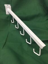 LOT 15 Pieces Slatwall 5 Hook Faceout Waterfall White Grid Wall Retail Pegs