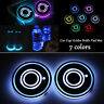 2X For All car Solar Cup Holder Bottom Pad LED Light Cover Trim Atmosphere