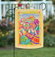 New Toland - Peek-A-Boo Bunny - Happy Easter Egg Rabbit Ear Tail Garden Flag