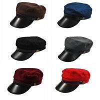 Unisex Men Women Military Army Cadet Baseball Cap Hat Trucker Hats Leather