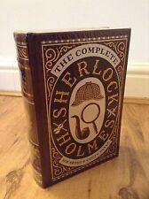CONAN DOYLE COMPLETE ADVENTURES OF SHERLOCK HOLMES LEATHER BOUND HARDBACK BOOK