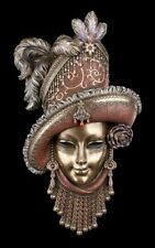 Masque vénitien avec chapeau et plumes - VERONESE Masque déco décoration murale