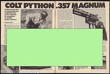 1989 Colt Python .357 Magnum Revolver 3-pg Evaluation Article by Massad Ayob