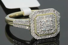 10K YELLOW GOLD .61 CARAT WOMENS REAL DIAMOND BRIDAL WEDDING ENGAGEMENT RING