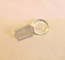 CLEAR GLASS FLAT PENNY STOPPER ANTIQUE PERFUME / SCENT BOTTLES 21mm
