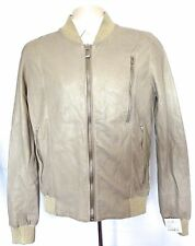 NWT $1,260 Silent DAMIR DOMA Mens Tan Distressed Leather Bomber Jacket XS S AUTH