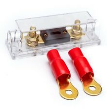 0 GAUGE FUSE HOLDER WITH 2 TERMINALS 0 AWG FUSE CHOICE INCLUDED