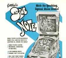 Blue Note Pinball FLYER Rare Gottlieb Original 1979 Game Art Sheet Music Theme