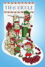 Cross Stitch Kit ~ Design Works Popcorn Elves Christmas Stocking #DW5998