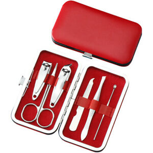 6pcs/set Nail Clippers Manicure Grooming Tool Pedicure Cutter Eyebrow Scissors