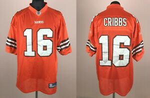 Josh Cribbs #16 Cleveland Browns REEBOK On Field Orange NFL Sewn Jersey Size 54