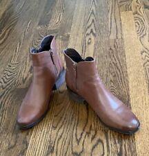 Cole Haan Layla Dark Brown Cognac Waterproof Booties, Size 8.5