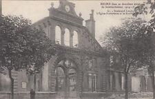 CPA GUERRE 14-18 WW1 REIMS 61 église protestante écrite
