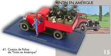 Le camion de police de Chicago de Tintin en Amérique. Editions Atlas. Tintin. 41