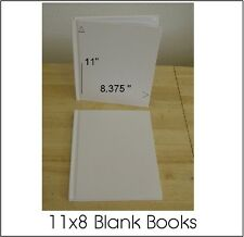 ALL PLAIN BLANK WHITE HARD COVER STUDENT BOOKS TO SELF ILLUSTRATE 11X8 (28) PGS.