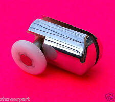 2 x Chrome Plated Bottom Single Shower Rollers / Runners 25mm Wheel Dia L069