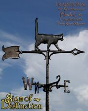 """Whitehall Black Cat 30"""" Traditional Rooftop Weathervane Ships FREE with Mount"""