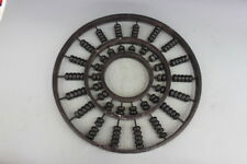 """19"""" Chinese Wood Ancient calculation tools Circular abacus abacus statue"""