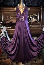 """Vintage Vanity Fair Olga Like Sheer Lace 120"""" Sweep Sexy Slip Nightie Gown L XL"""