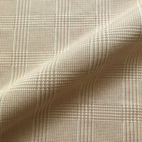 """Neutral Menswear Houndstooth Check Woven Upholstery Fabric by the Yard - 54"""""""