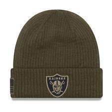 New Era Oakland Raiders Sport Knit NFL saludo a servicio Sombrero [Oliva]