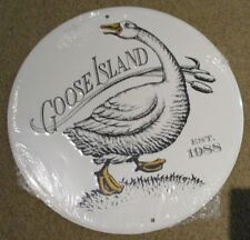 GOOSE ISLAND BREWING bourbon county classic METAL TACKER SIGN craft beer brewery