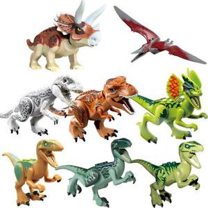 8Pcs T-Rex Jurassic World Dinosaur Set Lego Figure Building Blocks Kids Toys