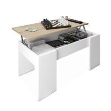 Habitdesign 0f1640a - mesa de centro Elevabl(roble Canadian y blanco Artik)