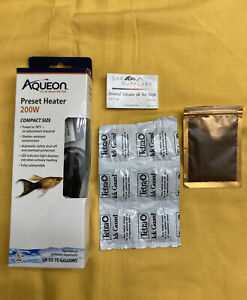Aquarium Fish Tank Lot Aqueon 200W Submersible Heater Plant Seed Ick Tabs PH EUC
