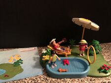 PLAYMOBIL City 4140 Wading Pool Mom Kids COMPLETE w/ Instructions Water Play