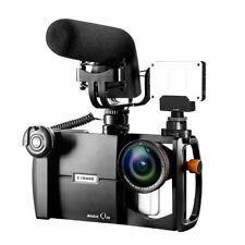 E-IMAGE Magic Q30 Video Mount Case with 4K Wide Angel Lens Macro Lens Kit