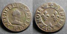 HENRI III Denier tournois, 2ème type sd A (couronne)