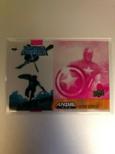 2020 Upper Deck Marvel Anime Stax Captain America SS-11A