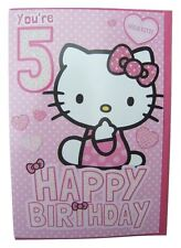 Hello Kitty birthday card for age 5 (FIVE) by Gemma – 224283