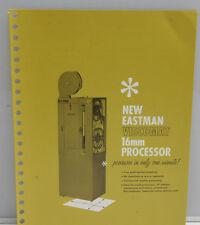 Kodak Viscomat 16mm Processor Ad 1961 Promo Pamphlet Tri-Fold Brochure - B133