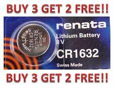 CR 1632 RENATA WATCH BATTERY ECR1632 CR1632 FREE SHIPPING BUY 3 GET 2 FREE!!