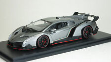 Kyosho 1/43 Lamborghini Veneno Diecast Replica 05571GR Grey/Red Line